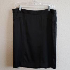 Theroy Black Knee Length Skirt.